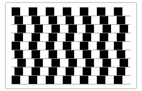 illusione ottica - Cafè Wall Illusion